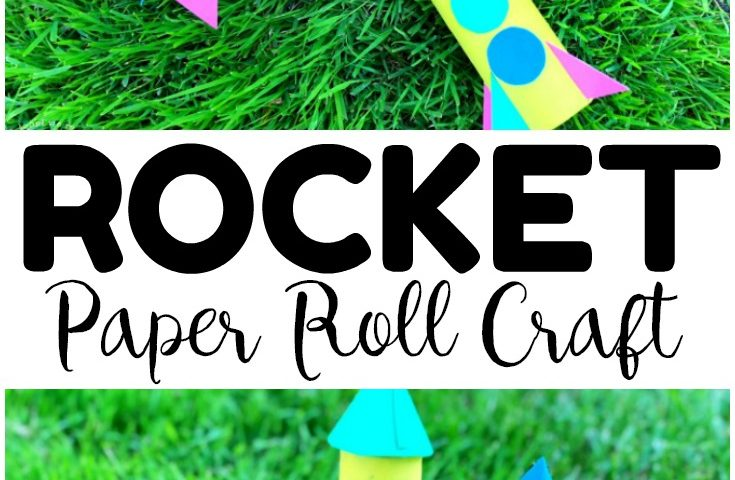 Easy Paper Roll Rocket Craft for Kids