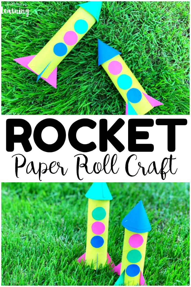 Make this easy paper roll rocket craft with the kids this summer! So fun for a long summer afternoon of crafting!