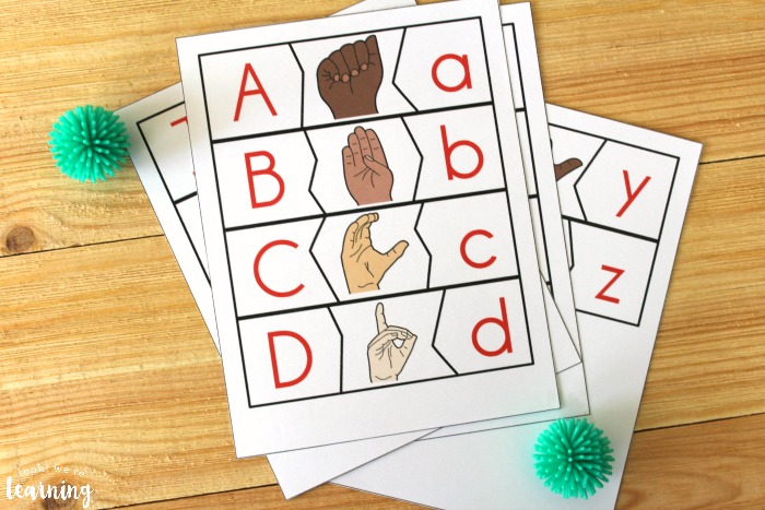 Printable ASL Alphabet Matching Puzzles