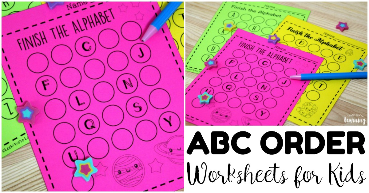 Printable Alphabet Order Worksheets for Kids