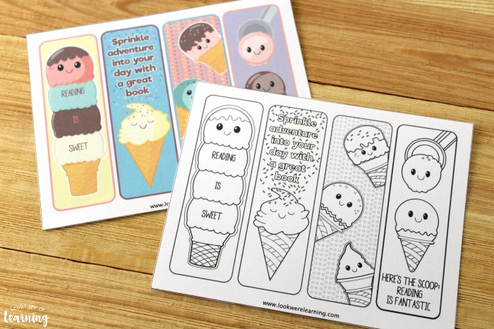 Printable Coloring Bookmarks for Kids