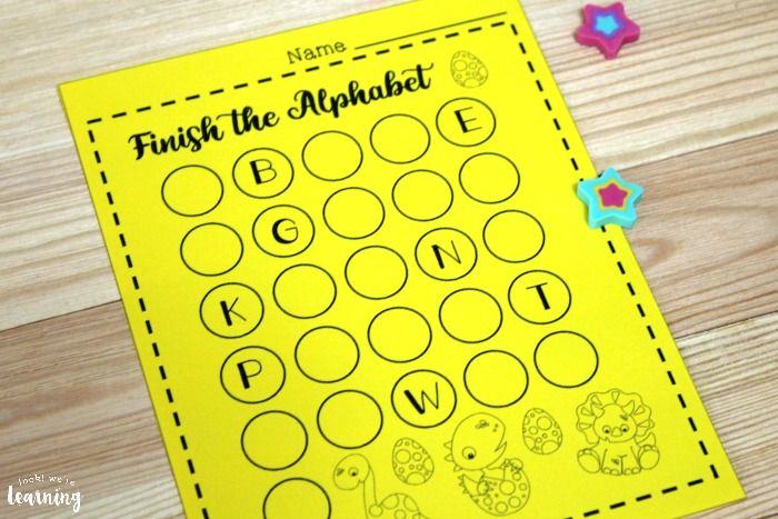 Printable Dinosaur Alphabet Worksheet for Kids