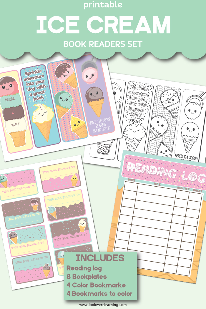 Printable Ice Cream Literacy Kit for Kids