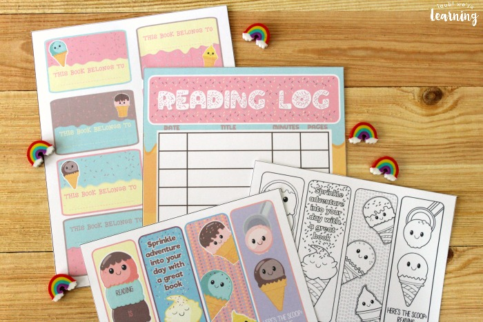 Printable Ice Cream Reading Log for Kids