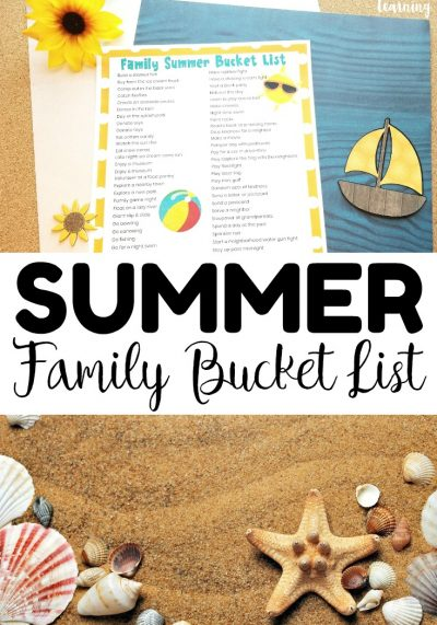 Schedule a fun summer with your family this year with this printable family summer bucket list! Great for keeping the kids entertained during break!