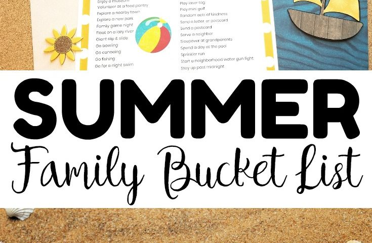 Summer Fun! Printable Family Summer Bucket List