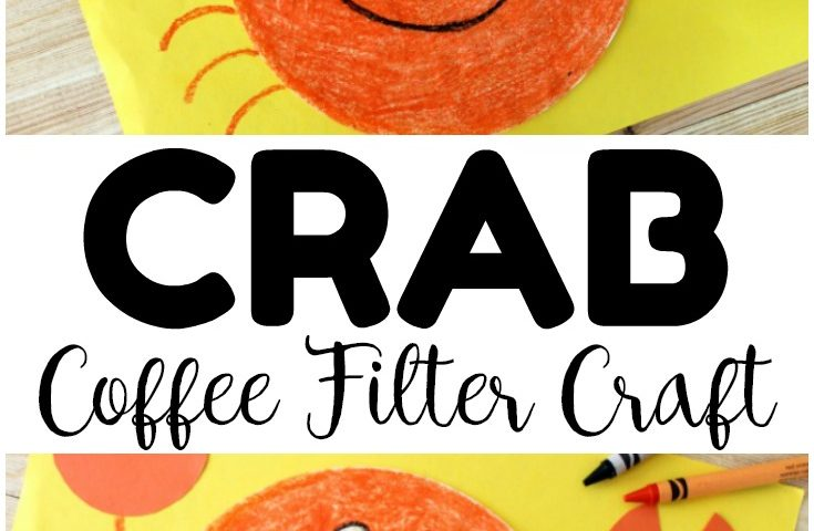 Coffee Filter Crafts for Kids: Coffee Filter Crab Craft