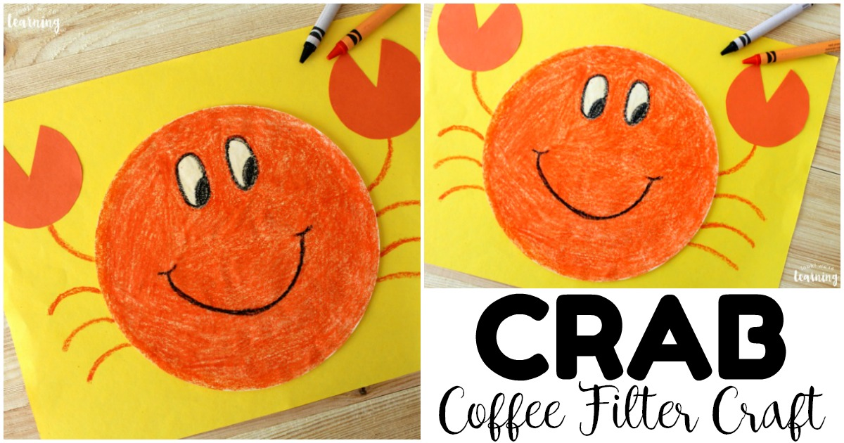 Simple and Fun Coffee Filter Crab Craft for Kids
