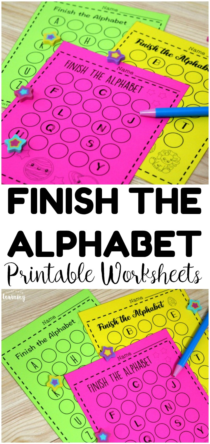These printable alphabet worksheets are perfect for helping preschoolers and kindergartners practice learning the letters of the alphabet in order! Pick them up for literacy centers!