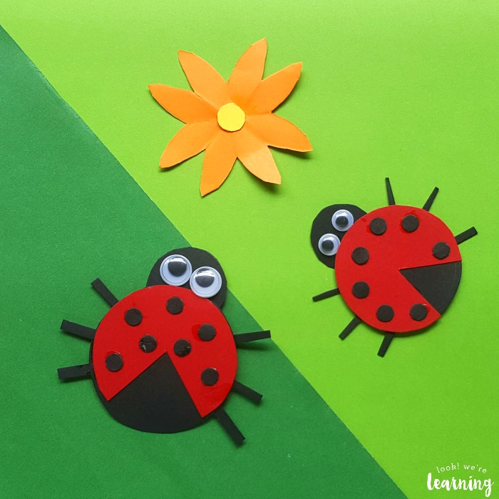 Cute Paper Ladybug Craft for Kids