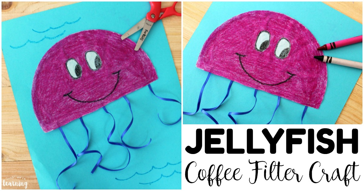 Cute and Easy Coffee Filter Jellyfish Craft for Kids