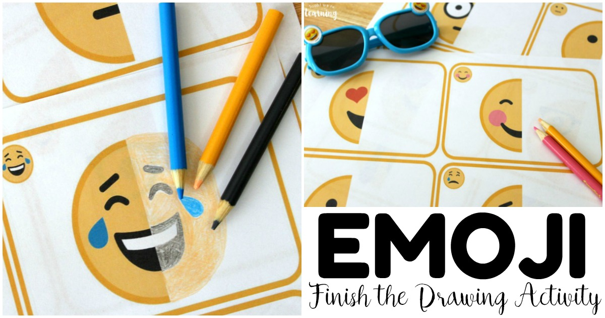 Fun Finish the Emoji Drawing Activity for Kids