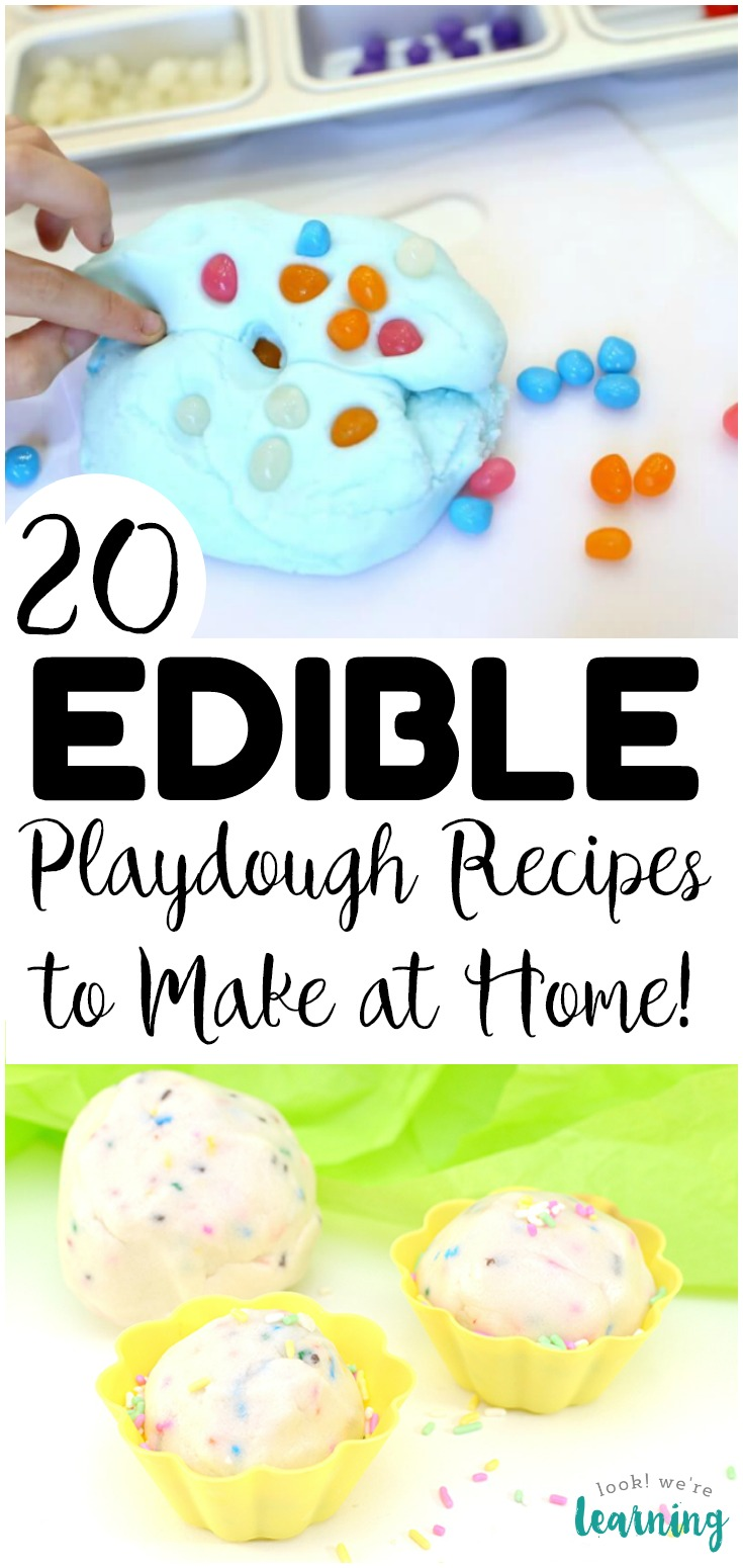 Have some fun sensory play with these fun and edible playdough recipes for kids! You can make these at home and let the kids play safely!
