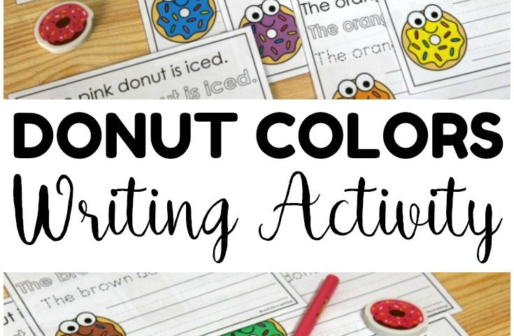 Donut Colors Sentence Writing Activity for Kids
