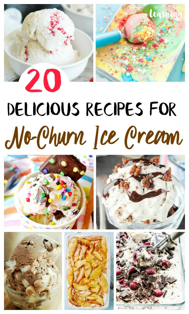 Make ice cream without an ice cream maker with these easy no churn ice cream recipes! Perfect for summer!