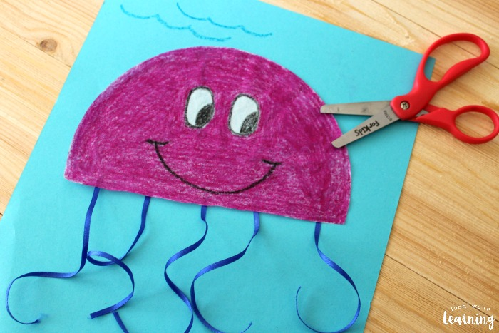 Making a Simple Coffee Filter Jellyfish Craft