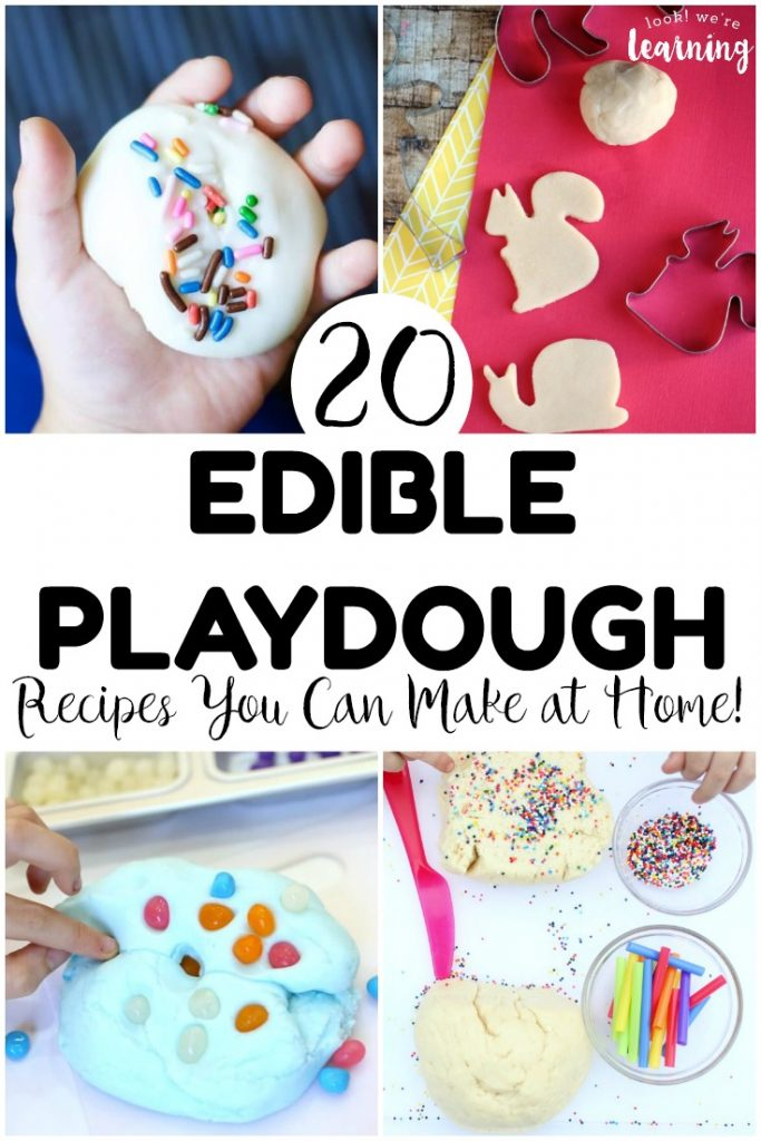 Mix up some sensory fun with these edible playdough recipes for kids! These are so fun for little ones who love to play with dough!