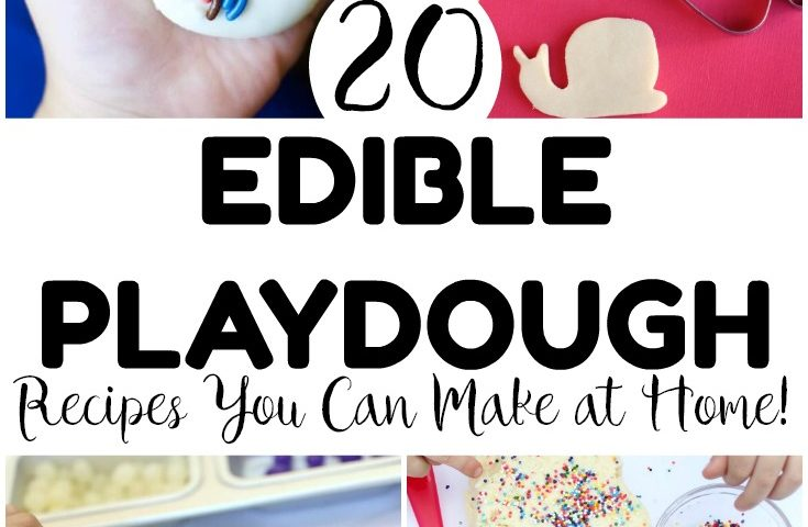 20 Super Fun Edible Playdough Recipes You Can Make at Home