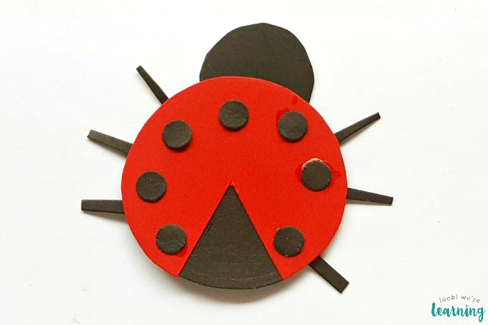 Paper Ladybug Craft for Kids