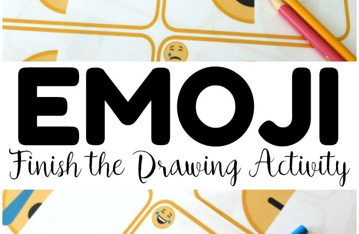 Finish the Emoji Drawing Activity for Kids