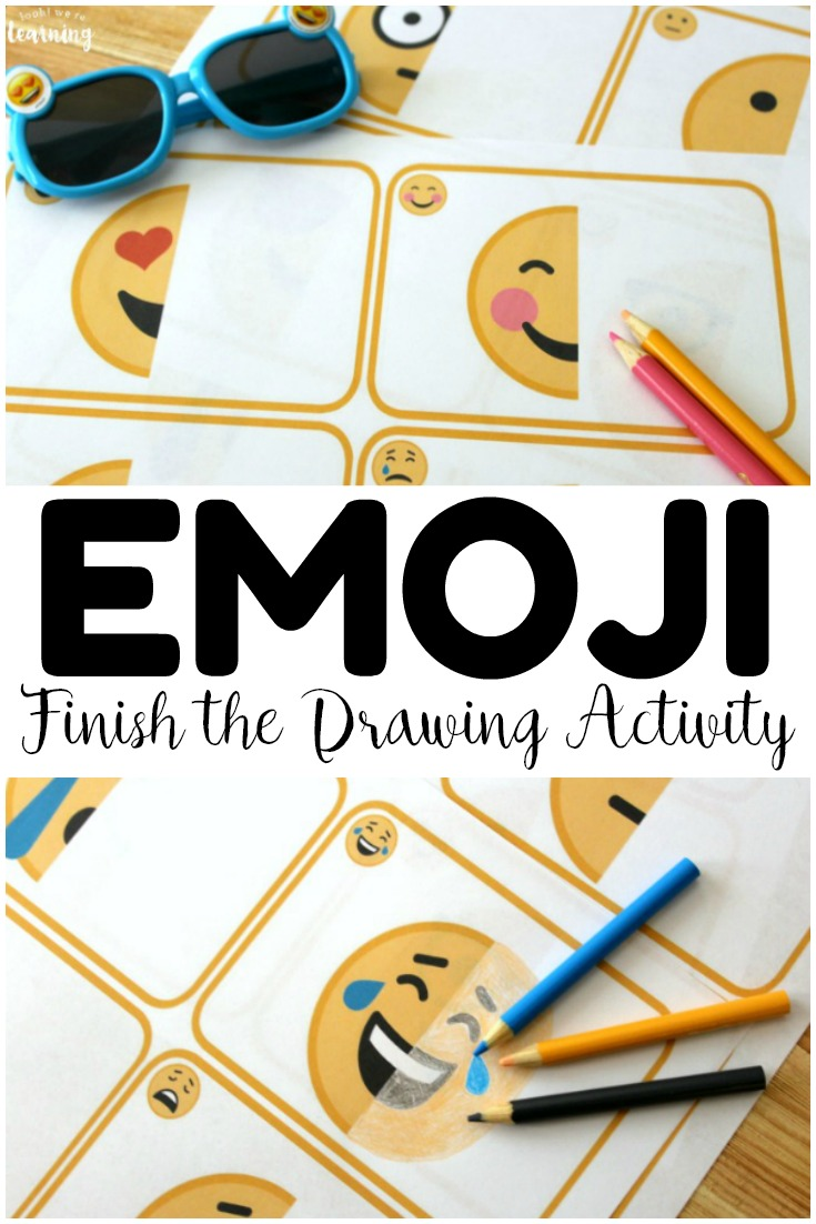 Practice drawing with the kids with this fun and simple Emoji drawing activity! This is a perfect way to share a summer art project with the kids!