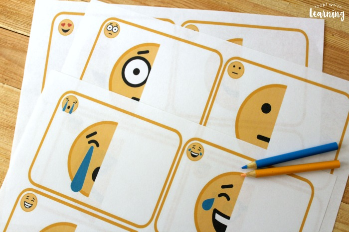 Printable Emoji Drawing Activity for Kids