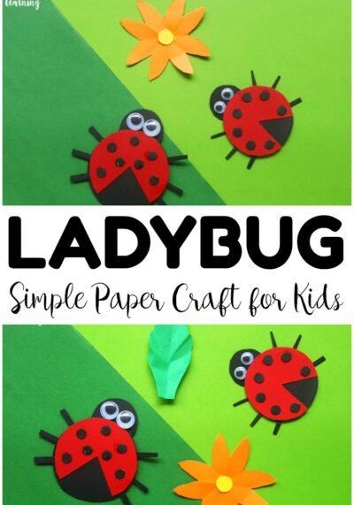 Share an easy summer craft with the kids and make this easy paper ladybug craft! So fun for little hands!