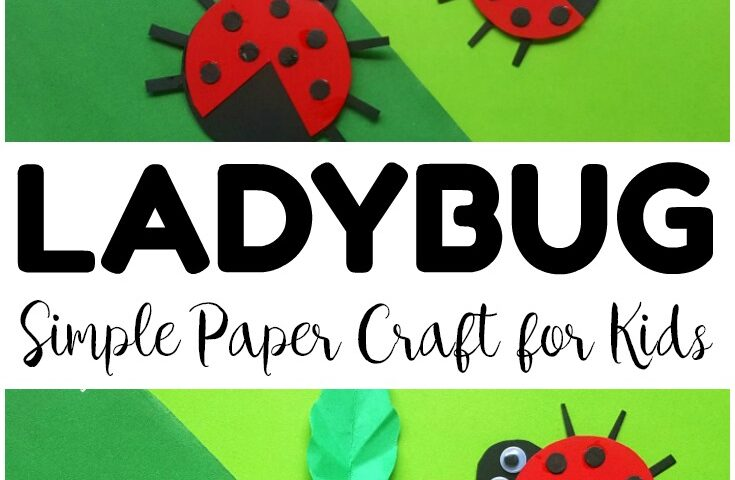 Easy Paper Ladybug Craft for Kids