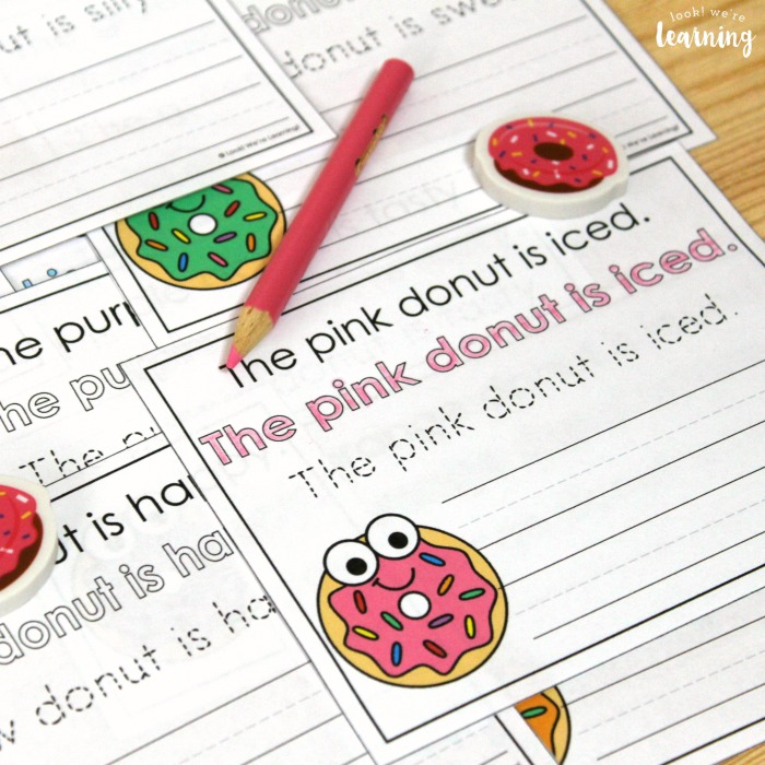 Simple Donut Colors Sentence Writing Activity