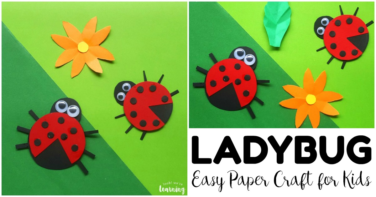 Simple and Fun Paper Ladybug Craft for Kids