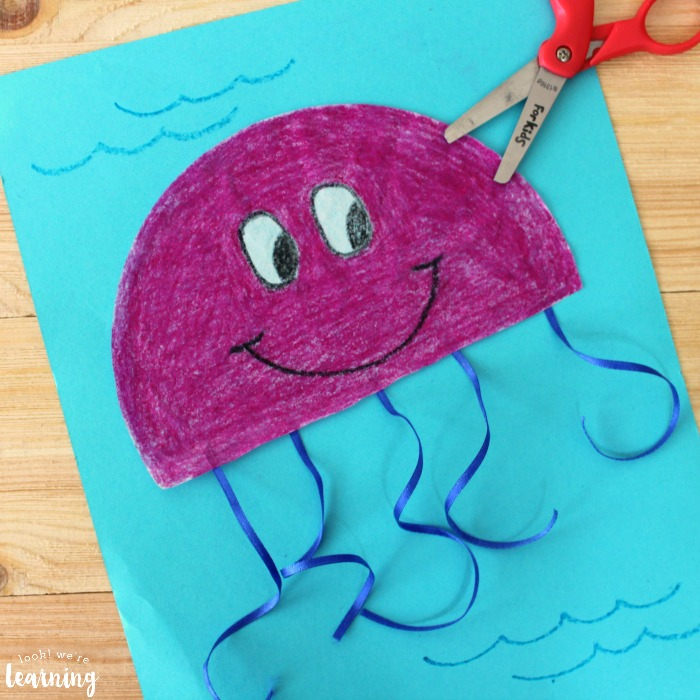 Super Easy Coffee Filter Jellyfish Craft