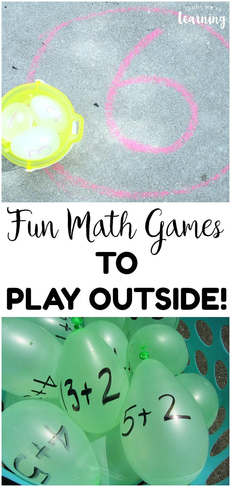 Take learning outdoors with this list of fun outdoor math learning games for kids! Awesome for learning during summer!