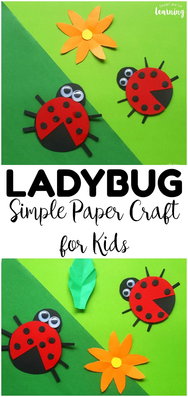 This easy paper ladybug craft is such a cute summer craft project for kids! You only need a few supplies to make this easy ladybug craft with your family!