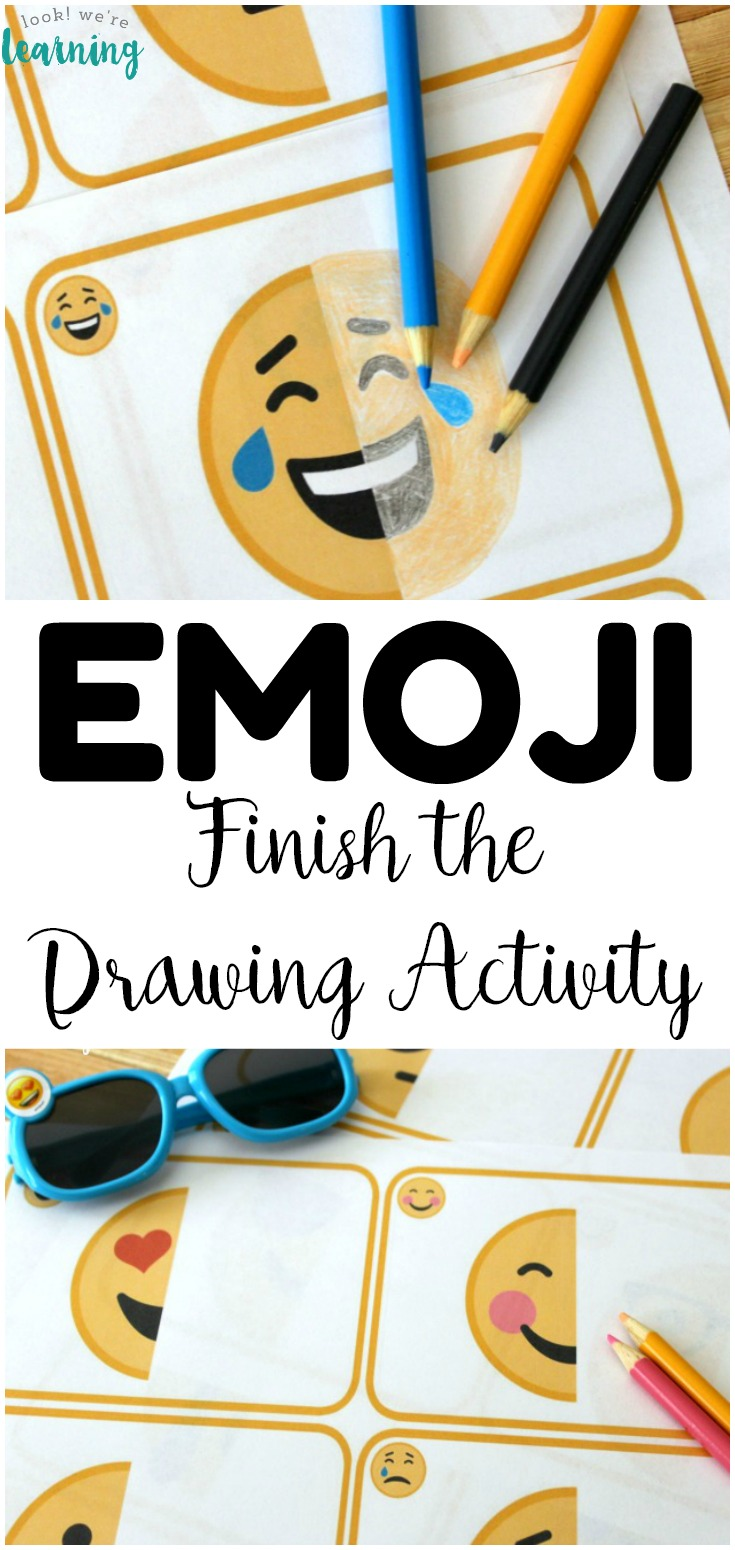 This fun Finish the Emoji Drawing Activity is a neat way to practice drawing skills with kids! Plus, it is a fun way to spend time making art over summer break!