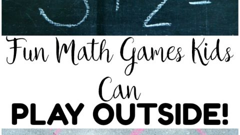 Try some of these easy outdoor math games for kids to play outside! These are wonderful for learning during summer break!