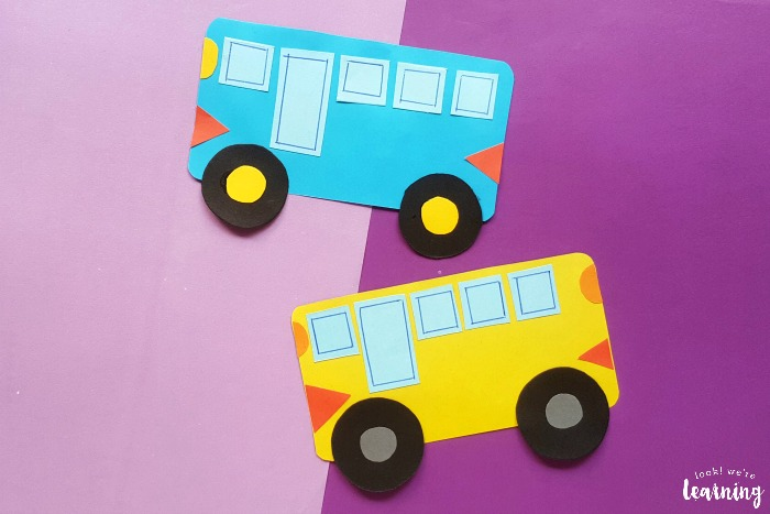 Easy Paper School Bus Craft for Kids