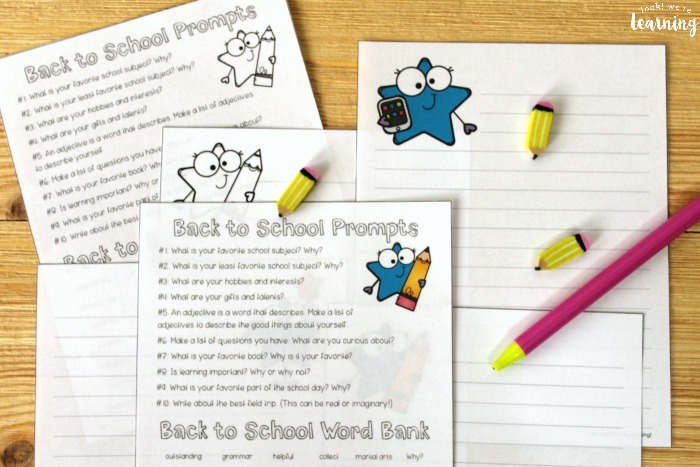 Fun Back to School Writing Prompts