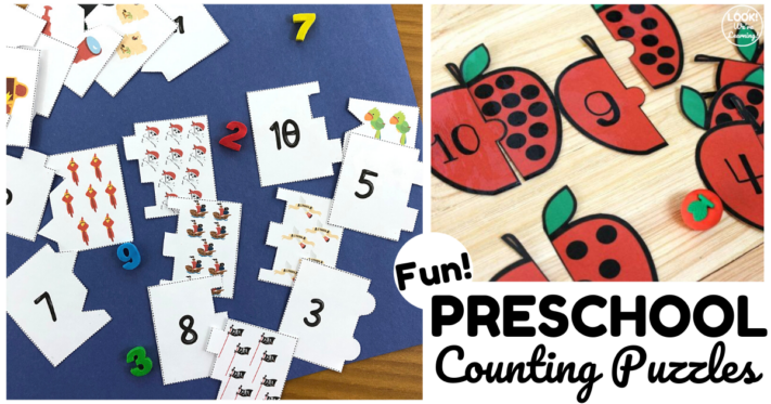 Fun Preschool Counting Puzzles for Kids