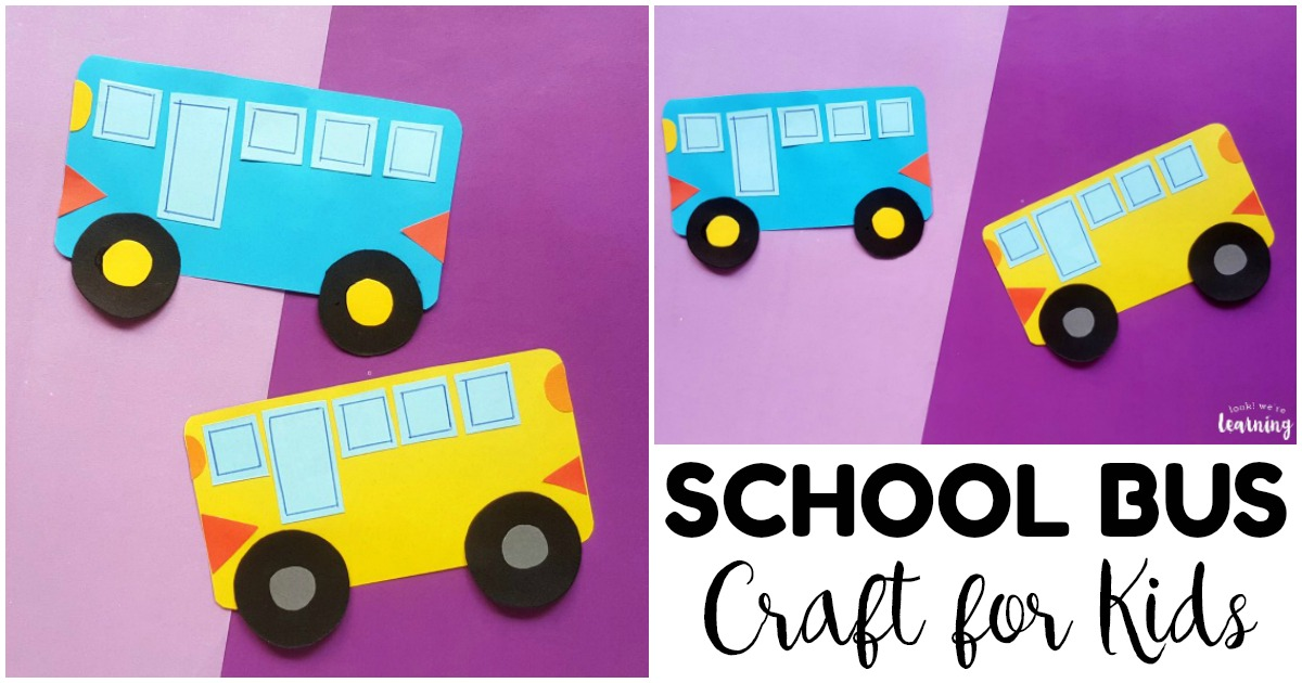 Fun and Easy School Bus Craft for Kids