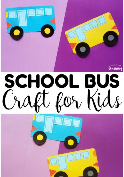 Get ready for back to school with this super cute paper school bus craft for kids! So easy to make, even for little ones!