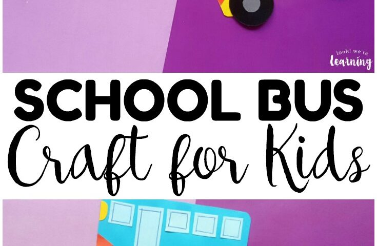 Easy Shape School Bus Craft for Kids