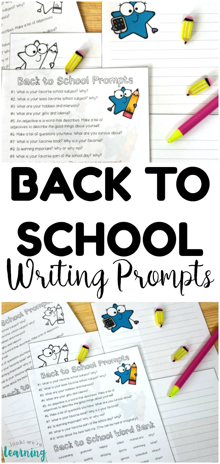 Get students excited for back to school with these fun back to school writing prompts! Plenty of ideas to help students generate writing ideas!