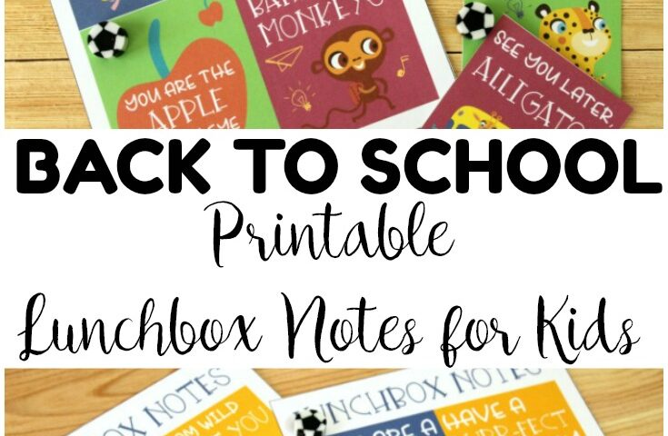 School Supply Lunchbox Notes for Kids