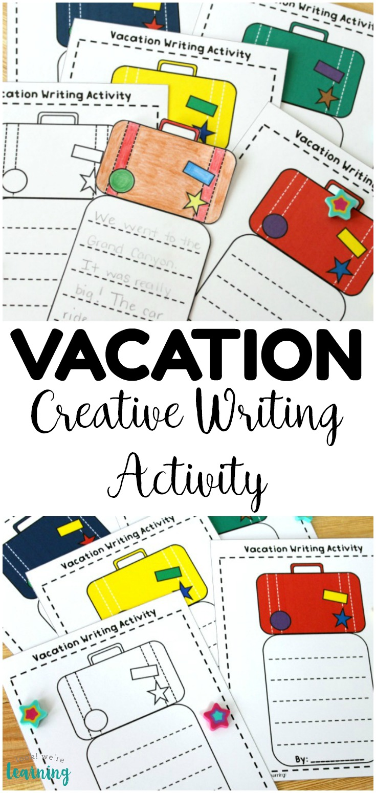 Help students break into creative writing with this simple vacation creative writing activity! Perfect for telling about summer break or places they want to visit!