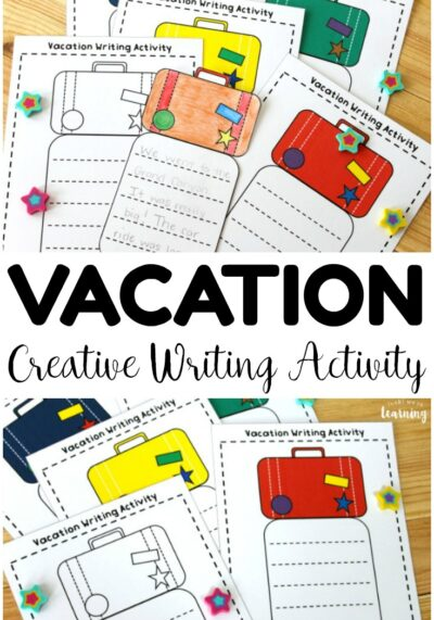 Help students write about places they have visited or want to visit with this simple vacation creative writing activity!