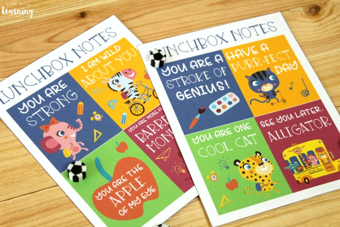 Printable School Lunchbox Notes for Kids