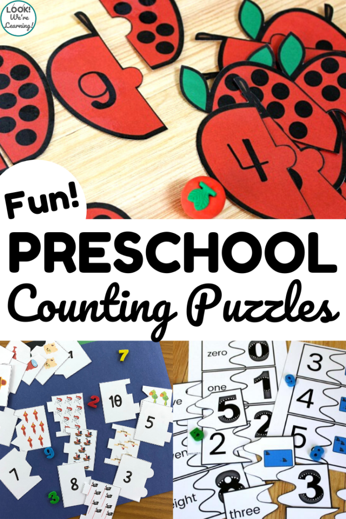 Share some of these fun preschool counting puzzles to help early learners practice counting from one to ten!