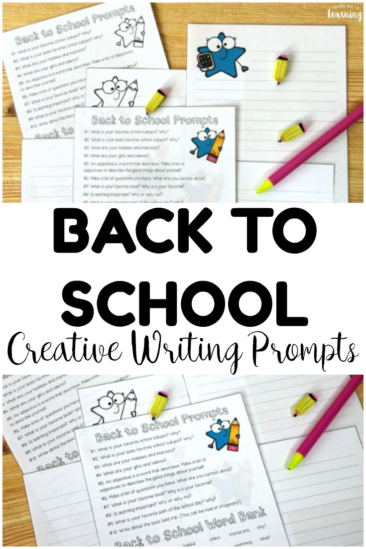 Share these fun back to school writing prompts with the class to help students write about the new school year! Perfect for creative writing lessons!