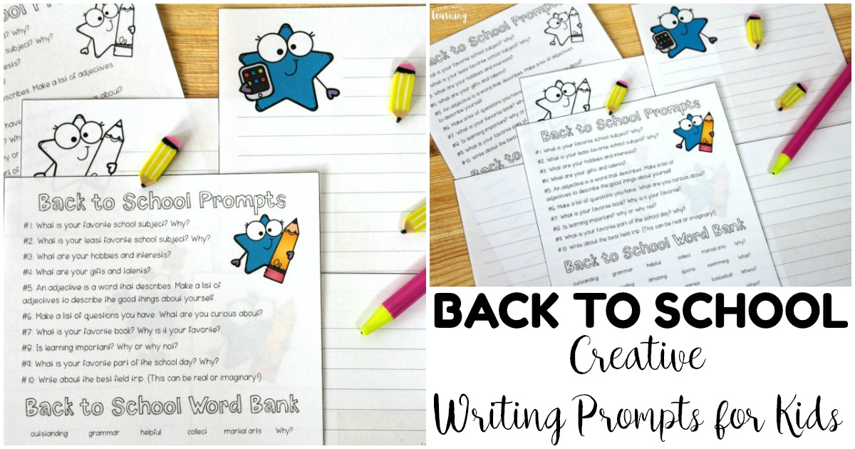 Simple Back to School Writing Prompts