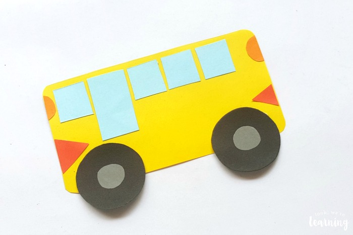 Simple Paper School Bus Craft for Kids